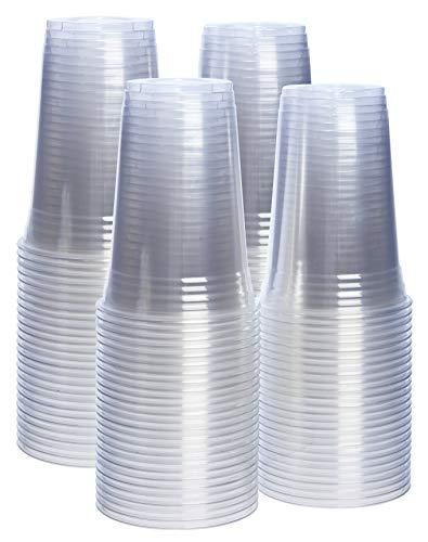 [100 Pack – 20 oz.] Crystal Clear PET Plastic Cups